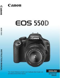 Canon EOS 550D instruction manual (reprint)