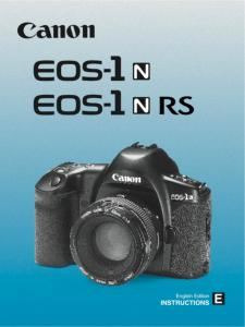 Canon EOS 1N/ EOS 1N RS instruction manual (reprint)