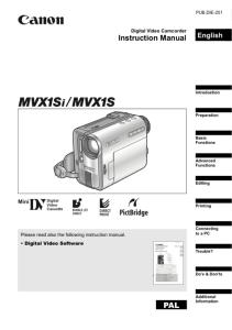 Canon IXY DV S1 instruction manual (reprint)