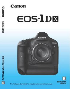 Canon EOS-1D X instruction manual (reprint)