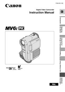 Canon MVX10i instruction manual (reprint)