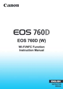 Canon EOS 760D basic instruction manual (reprint)