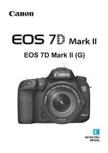 Canon EOS 7D Mark II instruction manual (reprint)